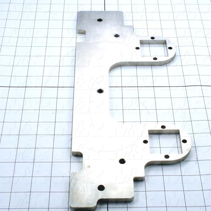 Fabricated Parts, Micro Bottom Plate, 16.89 in. Length, 6.69 in. Width, 0.38 in. Thickness, OC50001 Nickel Plating Finish