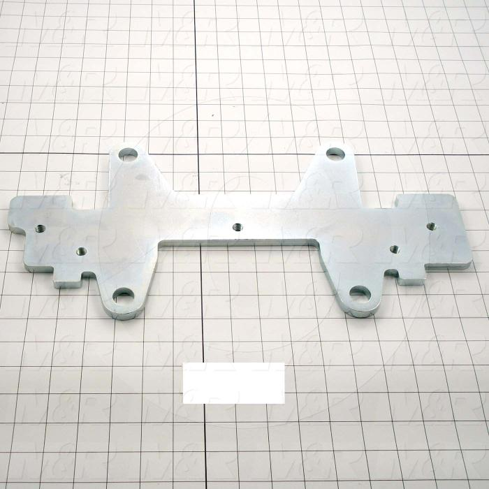 Fabricated Parts, Micro Bottom Plate, 17.00 in. Length, 8.38 in. Width, 0.38 in. Thickness