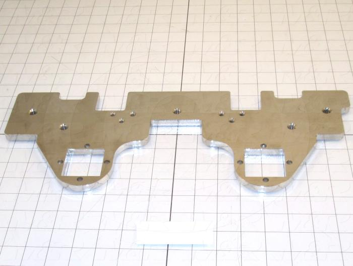 Fabricated Parts, Micro Bottom Plate 6.56x 16.88, 16.89 in. Length, 6.69 in. Width, 3/8 in. Thickness, Nickel Finish