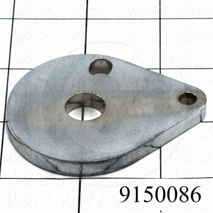 Fabricated Parts, Micro Flip Lock Plate, 2.56 in. Length, 2.00 in. Height, 0.25 in. Thickness