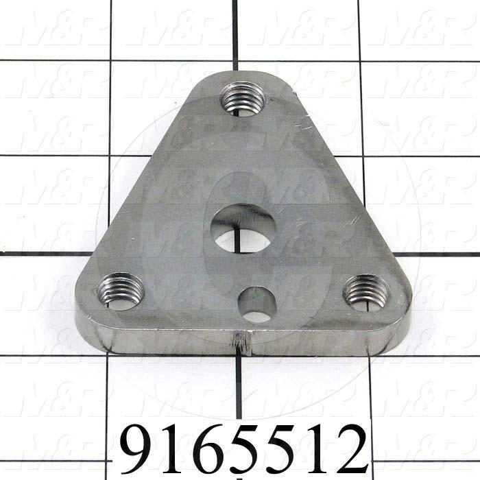 Fabricated Parts, Micro Lock Plate, 2.63 in. Length, 2.59 in. Width, 0.31 in. Thickness