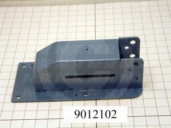 Fabricated Parts, Micro Mounting Bracket, 11.31 in. Length, 5.19 in. Width, 3.25 in. Height, Painted Blue Finish