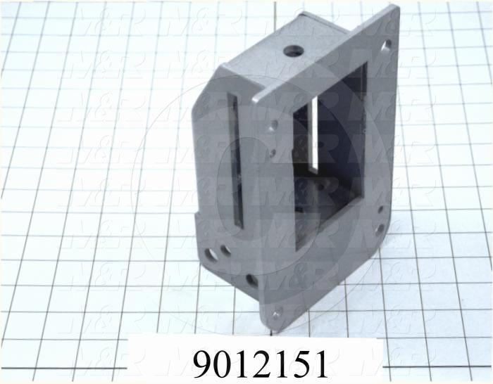 Fabricated Parts, Micro Mounting Bracket, 7.75 in. Length, 5.19 in. Width, 3.44 in. Height, Lower Level, Painted Blue Finish