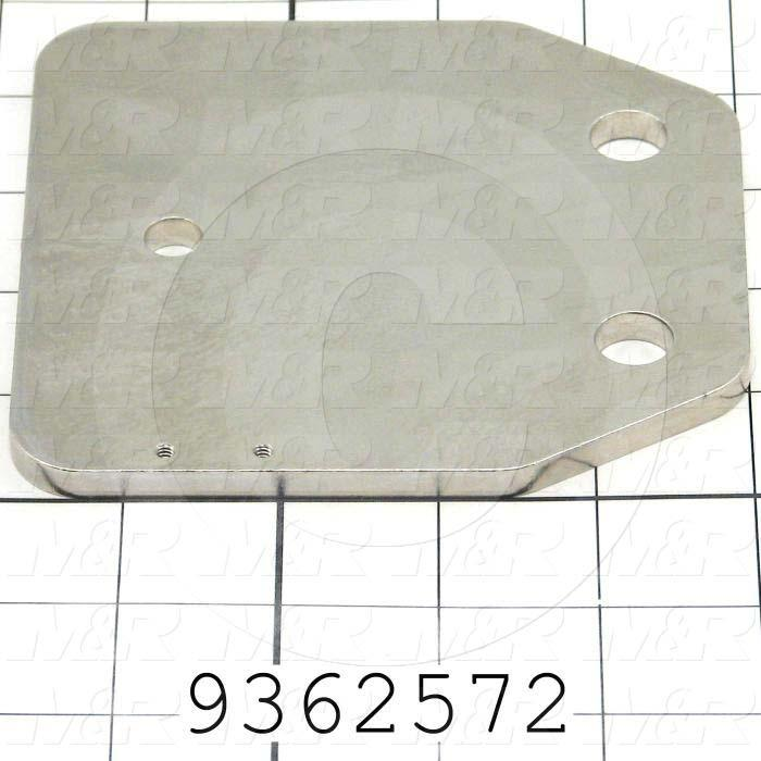 Fabricated Parts, Micro Plate, 4.75 in. Length, 4.50 in. Width, 0.25 in. Thickness