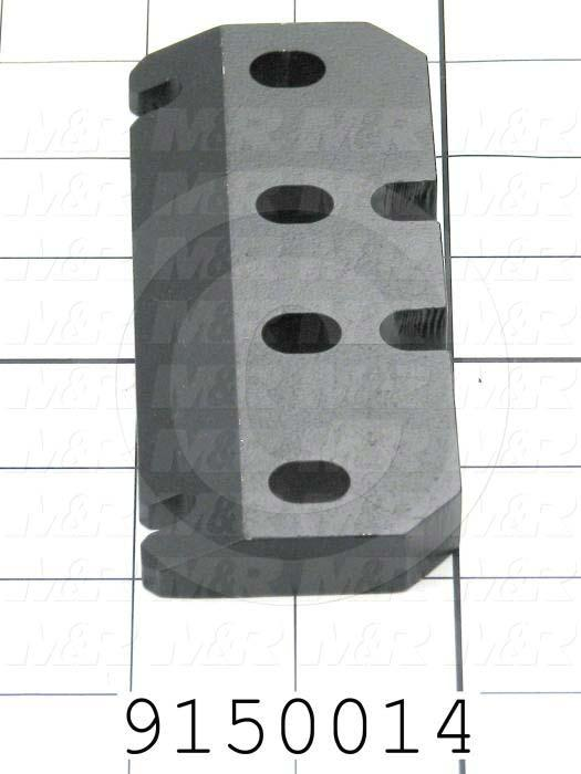 Fabricated Parts, Micro Positioning Plate, 5.00 in. Length, 2.00 in. Width, 0.50 in. Thickness