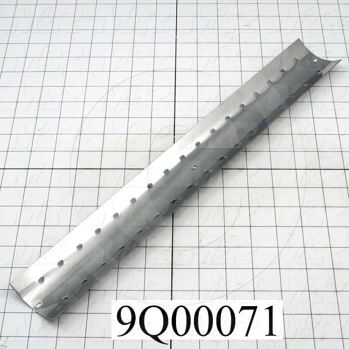 Fabricated Parts, Mirror, 18.00 in. Length, 2.38 in. Width, 0.88 in. Height