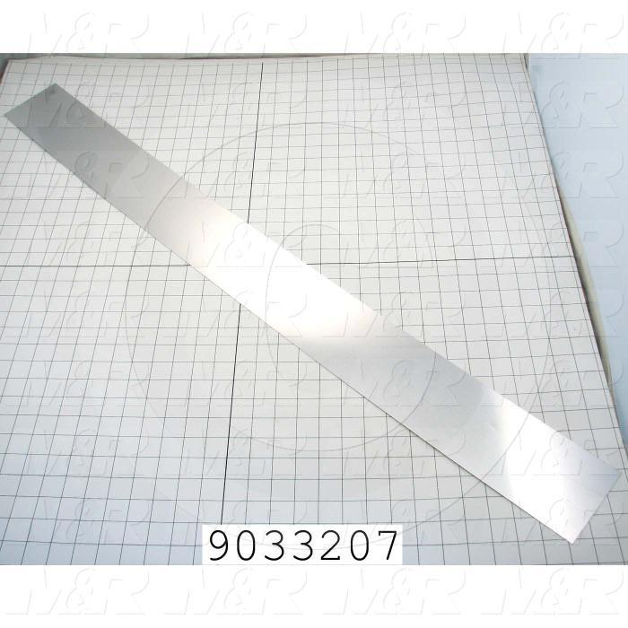 Fabricated Parts, Mirror, 26.88 in. Length, 4.05 in. Width, Use In Vitran V24 Series