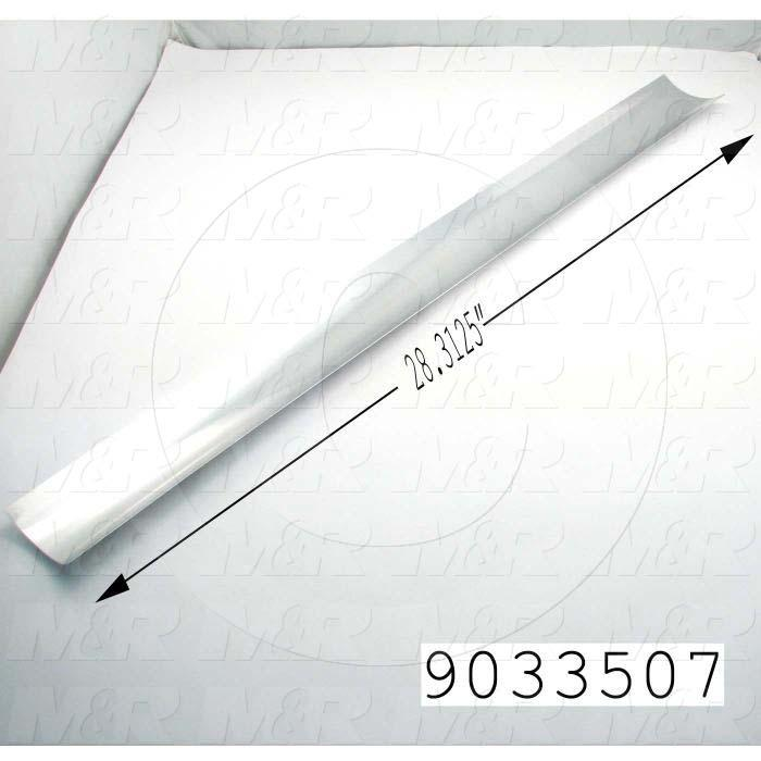 Fabricated Parts, Mirror, 28.44 in. Length, 3.75 in. Width, 0.68 in. Height, Use In Vitran V54 Series