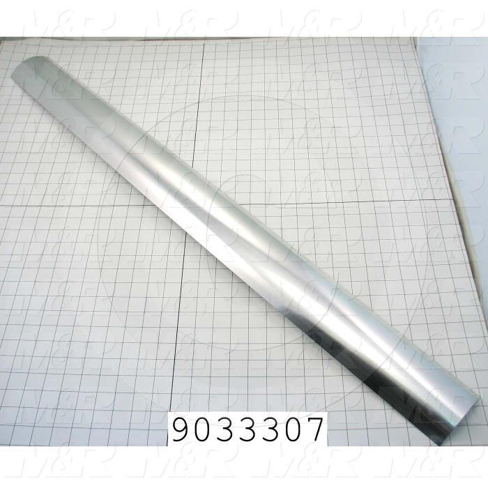Fabricated Parts, Mirror, 40.88 in. Length, 4.05 in. Width, Use In Vitran V38 Series