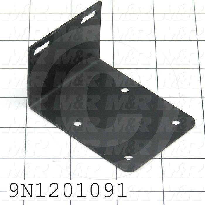 Fabricated Parts, Motor Mount Bracket, 3.16 in. Length, 2.31 in. Width, 1.81 in. Height, 12 GA Thickness