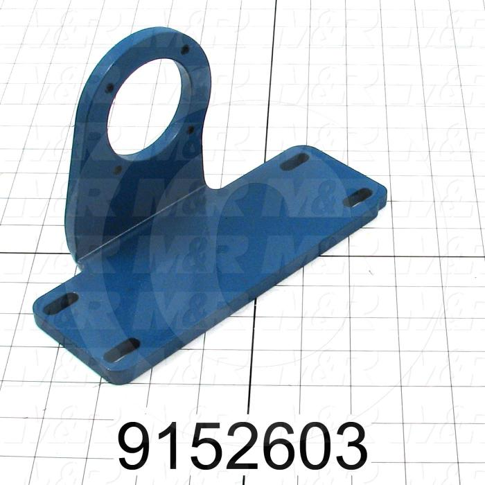 Fabricated Parts, Motor Mounting Bracket, 8.31 in. Length, 3.75 in. Width, 4.90 in. Height