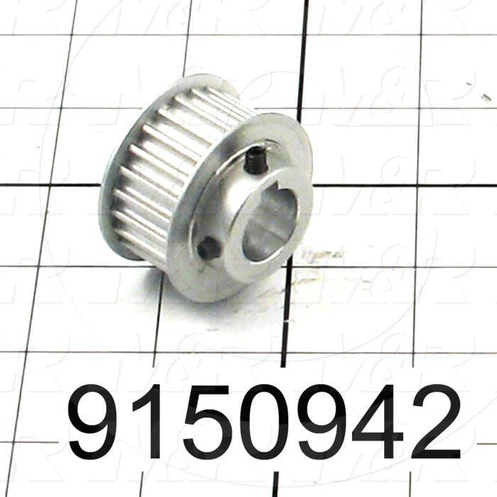 Fabricated Parts, Motor Sprocket 24 Teeth, 1.09 in. Length, 1.63 in. Diameter