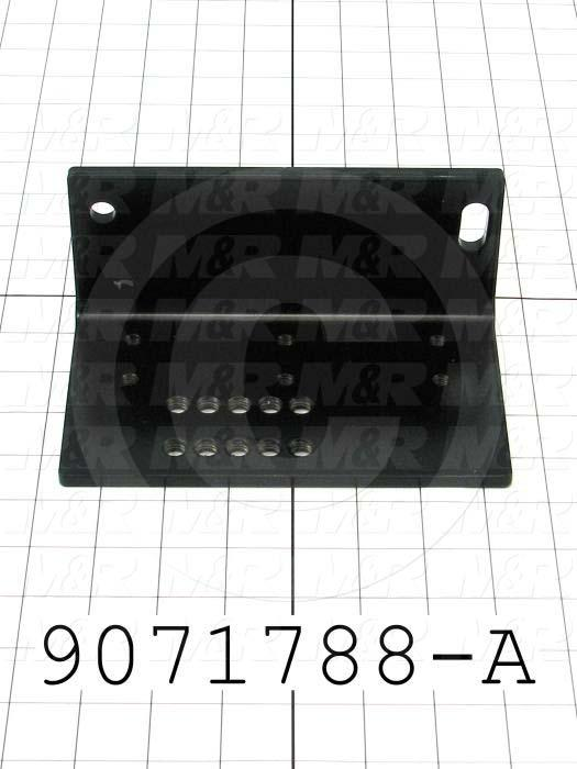 Fabricated Parts, Mounting Angle, 7.13 in. Length, 4.17 in. Width, 3.13 in. Height
