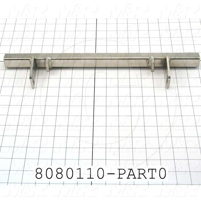 Fabricated Parts, Mounting Bar, 17.00 in. Length, 2.00 in. Width, 3.68 in. Height