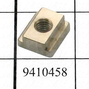 Fabricated Parts, Mounting Block, 0.75 in. Length, 0.69 in. Width, 0.31 in. Height