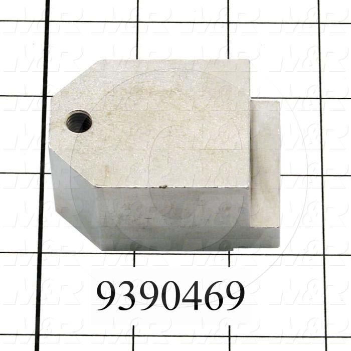Fabricated Parts, Mounting Block, 2.40 in. Length, 1.68 in. Width, 1.25 in. Thickness, Nickel Plated Finish
