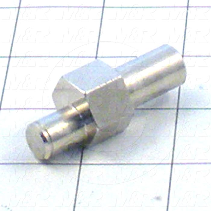 Fabricated Parts, Mstr Frame Reg Brg Mtg Shaftin, 1.94 in. Length, 0.75 in. Width, 0.75 in. Height