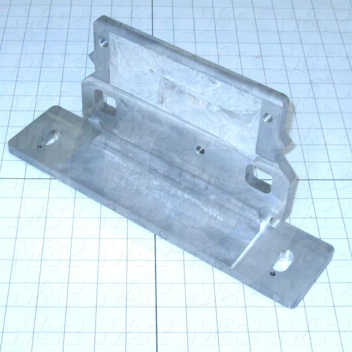 Fabricated Parts, Mtg. Angle, 13.00 in. Length, 6.00 in. Width, 3.00 in. Height, Tumble Finish