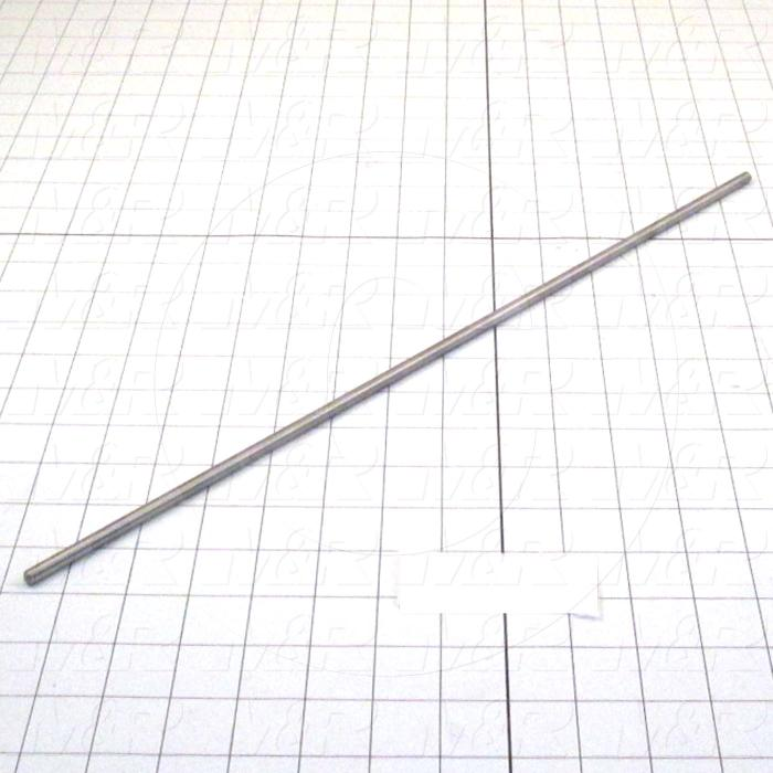 "Fabricated Parts, New Squeegee Pin 18"", 18.00 in. Length, 0.25 in. Diameter, As Material Finish"