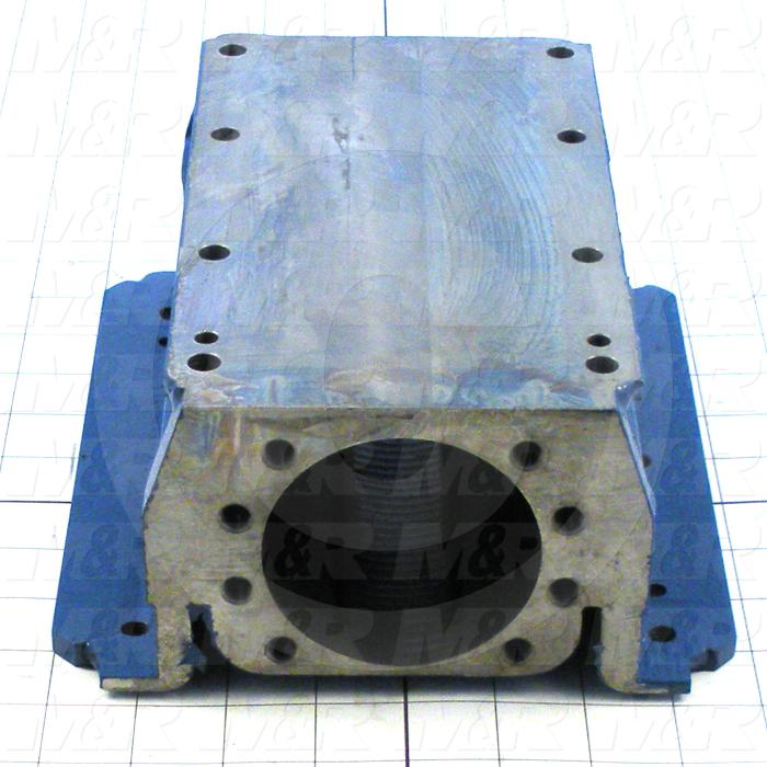 Fabricated Parts, Nut Housing 6 Holes, 9.13 in. Length, 7.75 in. Width, 3.88 in. Height, Painted Black Finish