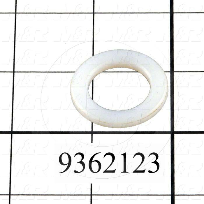Fabricated Parts, Nylon Adjustment Washer, 1.22 in. Diameter, 0.13 in. Thickness