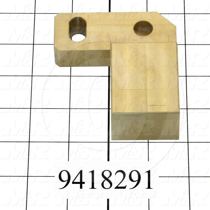 Fabricated Parts, Off-Cont. Adj. Slider-Left, 3.62 in. Length, 3.25 in. Width, 1.24 in. Height