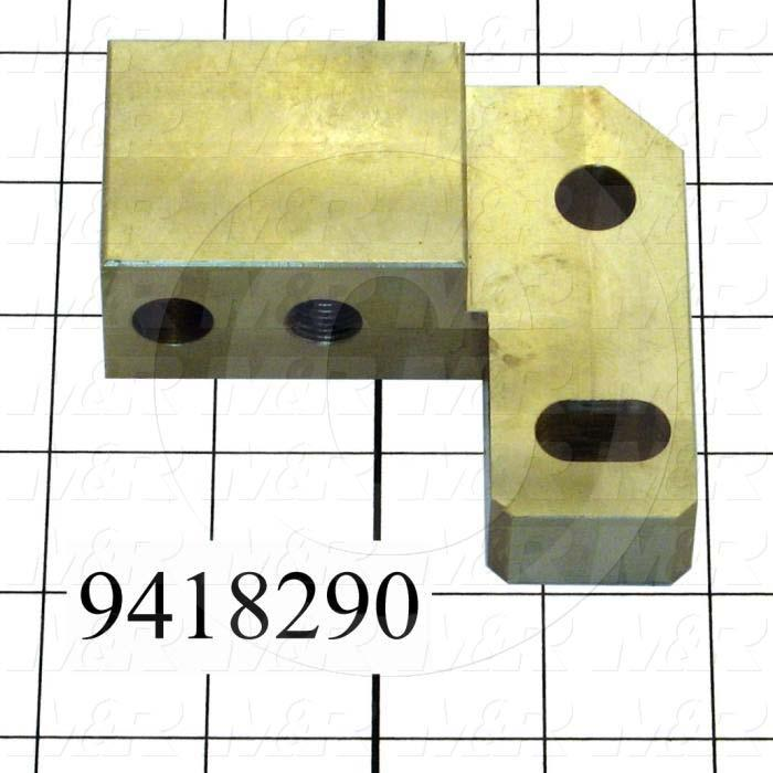 Fabricated Parts, Off-Cont. Adj. Slider-Right, 3.63 in. Length, 3.25 in. Width, 1.24 in. Thickness