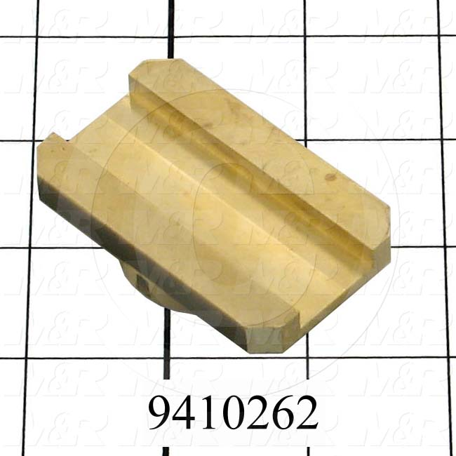 Fabricated Parts, Off Contact Brass Pivoting Insert, 2.50 in. Length, 1.50 in. Width, 0.56 in. Height