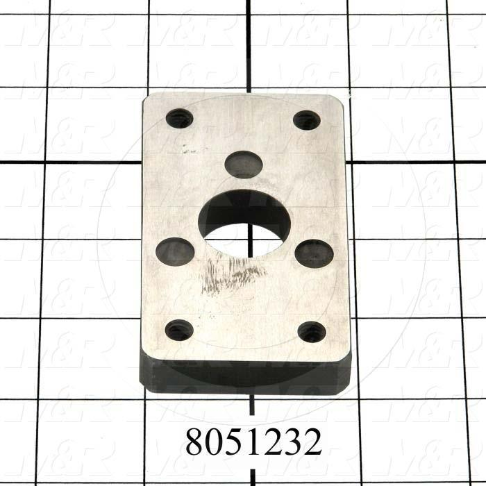 Fabricated Parts, Off-Contact Down Plate, 3.50 in. Length, 2.00 in. Width, 0.50 in. Thickness