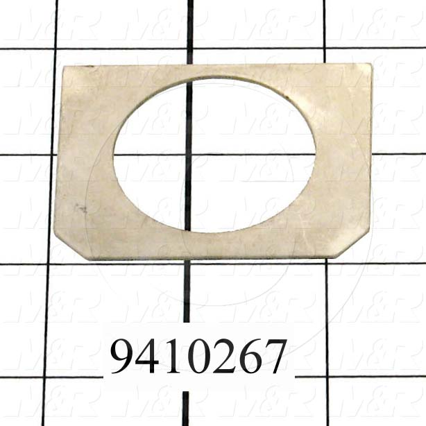 Fabricated Parts, Off Contact Pivoting Shim, 2.35 in. Length, 1.86 in. Width, 18 GA Thickness