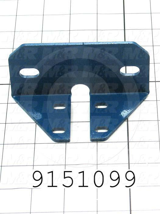 Fabricated Parts, Off Contact Spacer Bracket, 2.25 in. Length, 4.63 in. Width, 2.38 in. Height