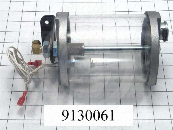 Fabricated Parts, Oil Reservoir With Bracket Assembly, 7.91 in. Length, 4.70 in. Height, 4.64 in. Diameter