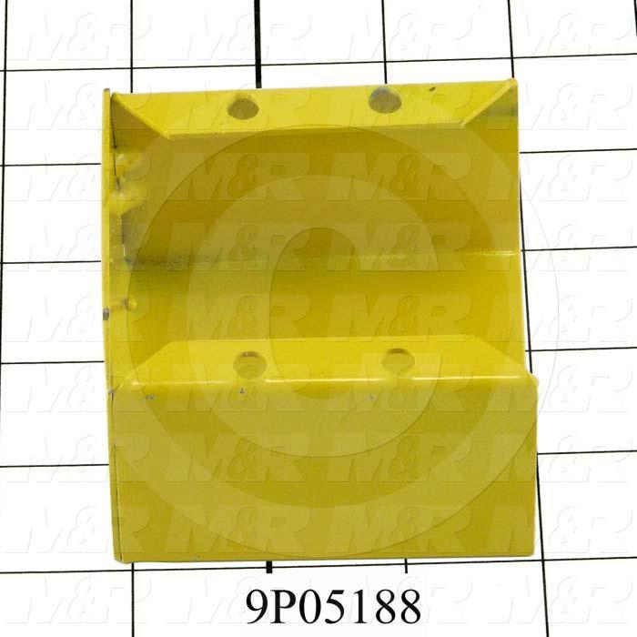 Fabricated Parts, Oiler Mounting Bracket, 3.13 in. Length, 2.00 in. Width, 3.00 in. Height