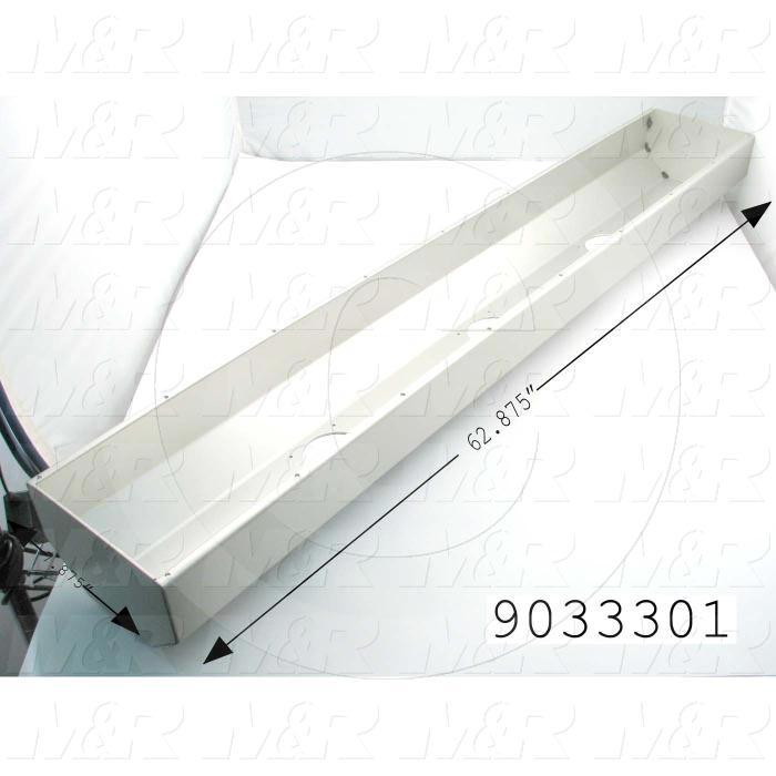 Fabricated Parts, Outer Shell, 62.88 in. Length, 7.88 in. Width, 0.13 in. Thickness, Use In Vitran V38 Series