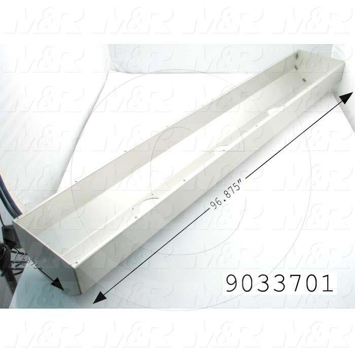 "Fabricated Parts, Outer Shell 96.875"" V72, 96.87 In Length, 7.87 in. Width, 4.89 in. Height, 1/8 in. Thickness"