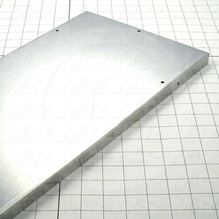 Fabricated Parts, Oven Inlet Outer Wall 38, 45.00 in. Length, 9.68 in. Width, 0.75 in. Height, 16 GA Thickness