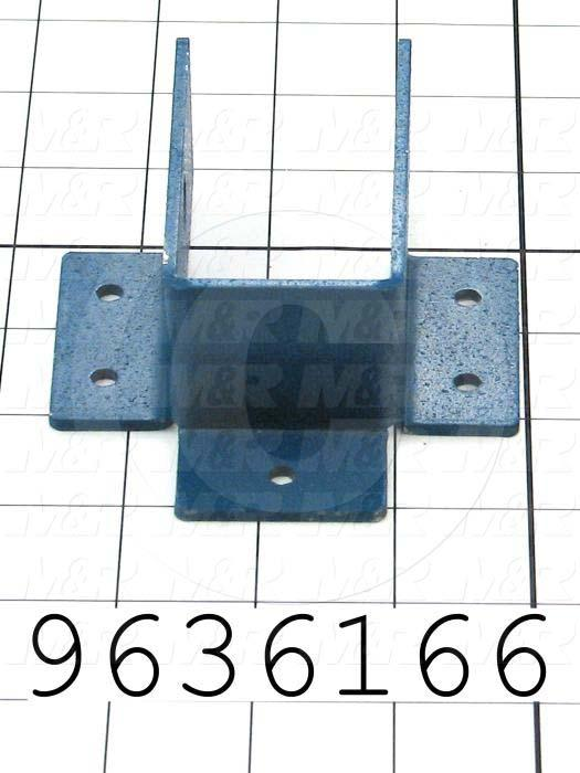 Fabricated Parts, Oven Support Hanger, 4.00 in. Length, 3.54 in. Width, 1.50 in. Height, 12 GA Thickness