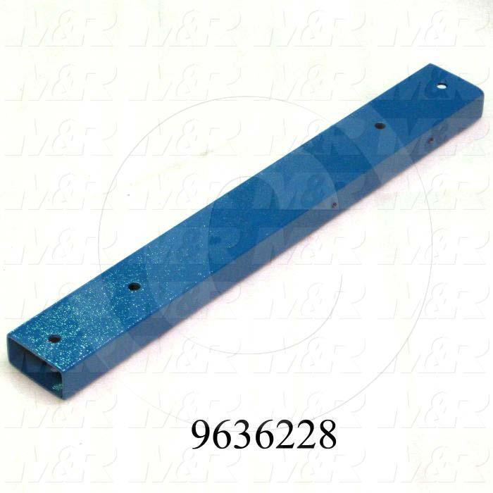 "Fabricated Parts, Oven Support Tube 24"", 24.00 in. Length, 3.00 in. Width, 1.50 in. Height, 11 GA Thickness, Painted Blue Finish"