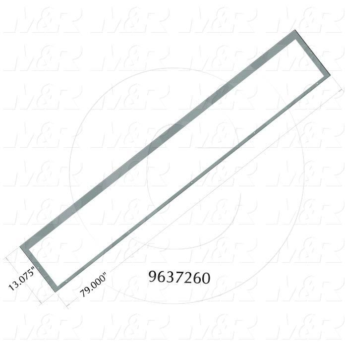 Fabricated Parts, Ovent Inlet Outlet Lower Wall, 79.00 in. Length, 13.07 in. Width, 0.75 in. Height, 16 GA Thickness