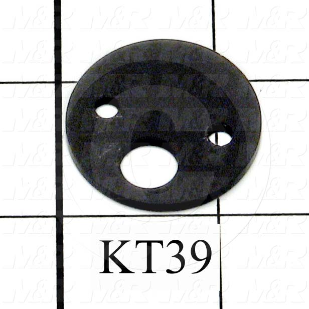 Fabricated Parts, P/D Body Spacer, 1.25 in. Diameter, 0.09 in. Thickness, OC50000 Black Anodizing Finish