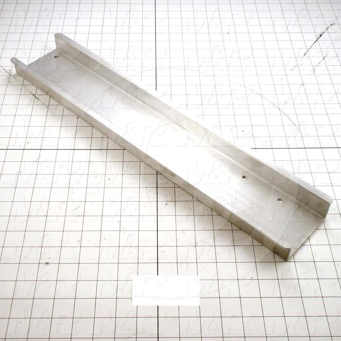 Fabricated Parts, Pallet Attachment Bracket, 22.25 in. Length, 4.35 in. Width, 1.38 in. Height