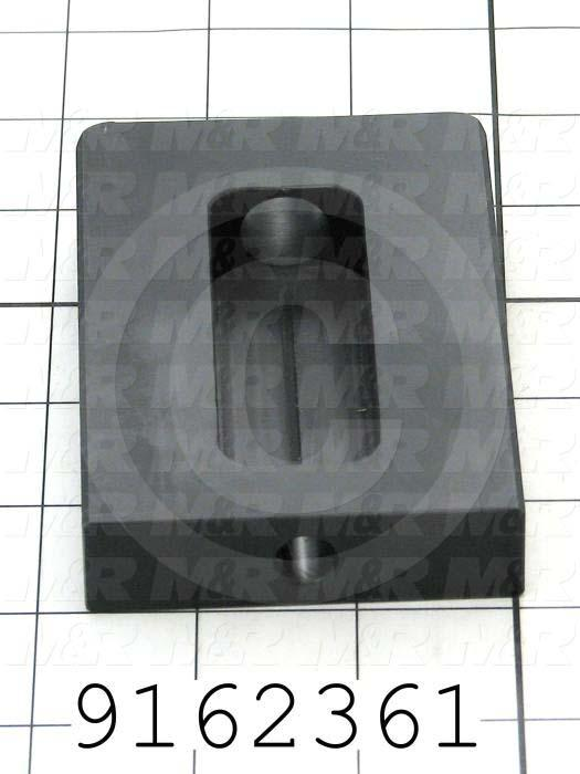 Fabricated Parts, Pallet Stop, 4.00 in. Length, 2.75 in. Width, 0.75 in. Thickness