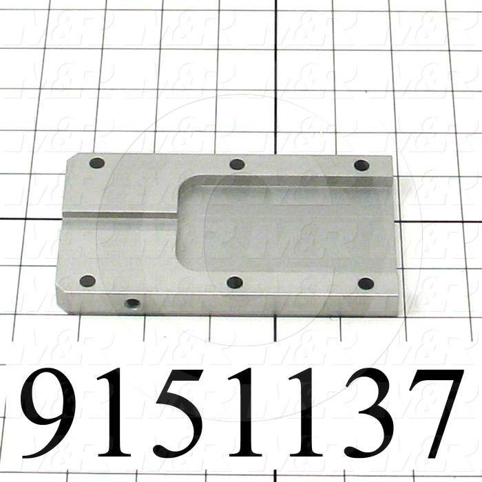Fabricated Parts, Pallet Stop Front Guide, 5.25 in. Length, 3.00 in. Width, 0.50 in. Thickness