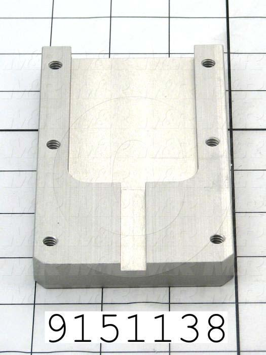 Fabricated Parts, Pallet Stop Rear Guide, 5.25 in. Length, 2.50 in. Width, 0.50 in. Thickness