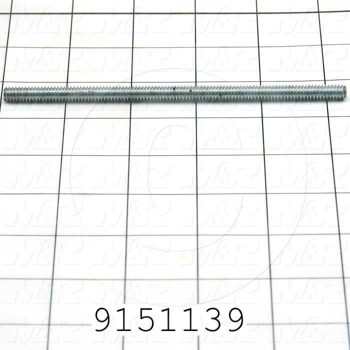 Fabricated Parts, Pallet Stop Rod, 5.25 in. Length, 1/4-20 Thread Size