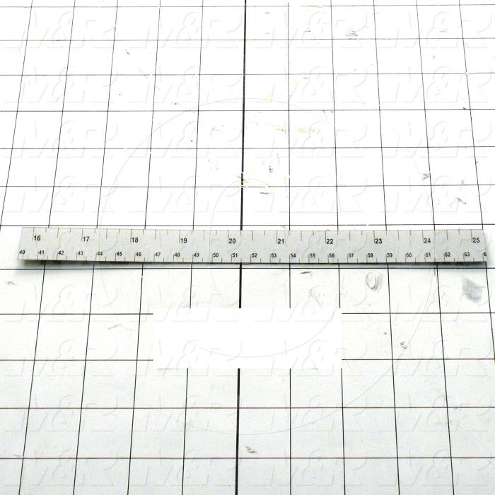 "Fabricated Parts, Pallet Stop Ruler, 10.00 in. Length, 16""-25"" In Size"