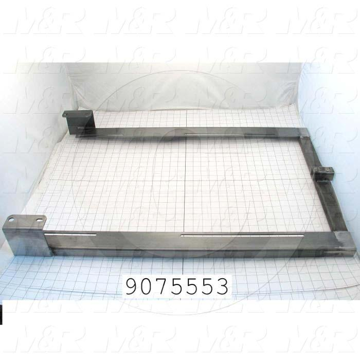 Fabricated Parts, Panel Frame Weldment, 48.75 in. Length, 23.00 in. Width, 4.00 in. Height