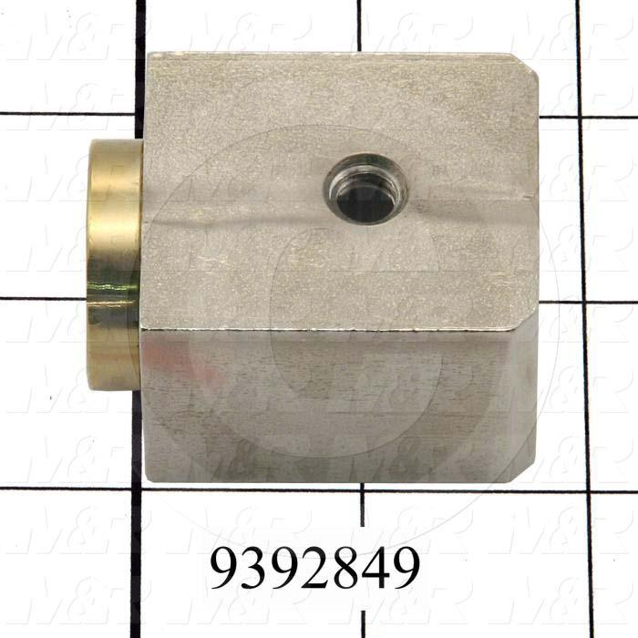Fabricated Parts, Peel Adjusting Block, 1.75 in. Length, 1.25 in. Width, 1.50 in. Height
