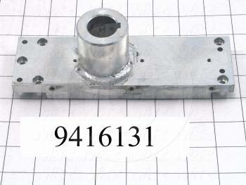 Fabricated Parts, Peel Base Weldment, 7.65 in. Length, 2.25 in. Width, 2.51 in. Height