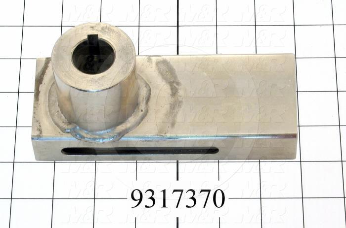 Fabricated Parts, Peel Bracket Weldment Ls, 6.60 in. Length, 3.16 in. Height, 2.50 in. Diameter, Nickel Plated Finish
